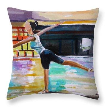 Dance Class Throw Pillow by John Williams
