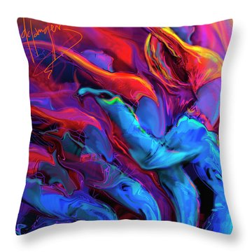 Throw Pillow featuring the painting Dance, Dance, Dance by DC Langer