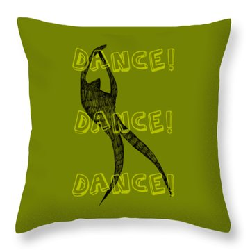 Dance Dance Dance Throw Pillow by Michelle Calkins