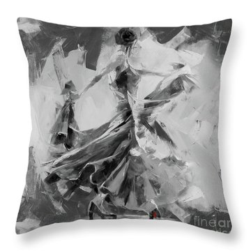 Throw Pillow featuring the painting Dance Flamenco 01 by Gull G