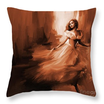 Dance In A Dream 01 Throw Pillow