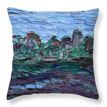 Throw Pillow featuring the painting Dance In The Rain by Vadim Levin