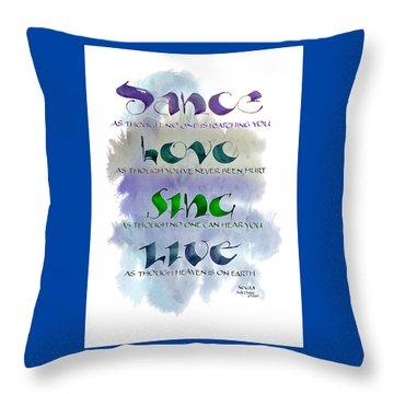 Dance Throw Pillow by Judy Dodds