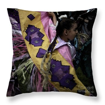 Dance Throw Pillow by Linda Shafer