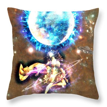 Dance Me To The Moon Throw Pillow