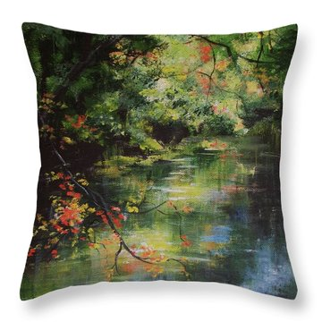 Dance Of Color And Light Throw Pillow by Mary Wolf