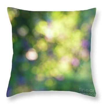 Throw Pillow featuring the photograph Dance Of Dappled Light by Tim Gainey