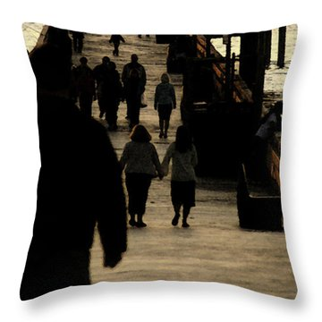 Dance Of Life - 2 Throw Pillow by Linda Shafer