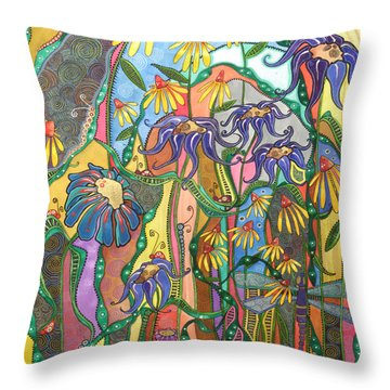 Throw Pillow featuring the painting Dance Of Life by Tanielle Childers
