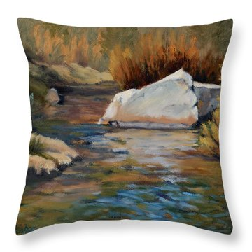 Dance Of Light On Bishop Creek Throw Pillow