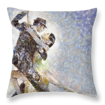Dance Of Romance Throw Pillow by Shirley Stalter