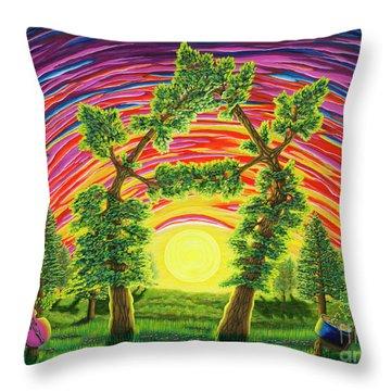 Dance Of Sunset Throw Pillow