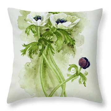 Dance Of The Anemone Bouquet Throw Pillow