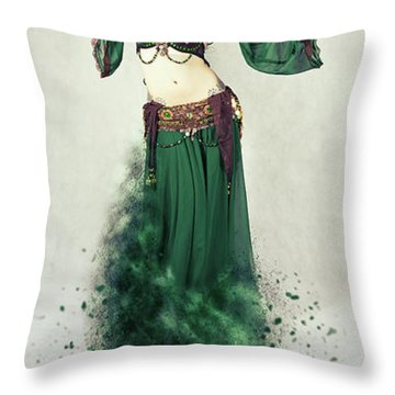 Dance Of The Belly Throw Pillow