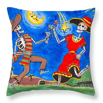 Dance Of The Dead Throw Pillow