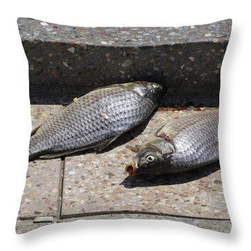 Dance Of The Dead Fish Throw Pillow