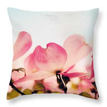 Dance Of The Dogwood Throw Pillow