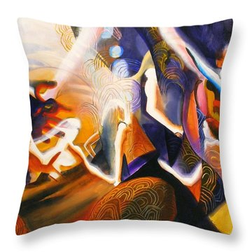 Throw Pillow featuring the painting Dance Of The Druids by Georg Douglas