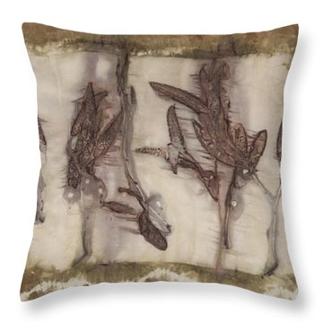 Dance Of The Eucalyptus Leaves Throw Pillow