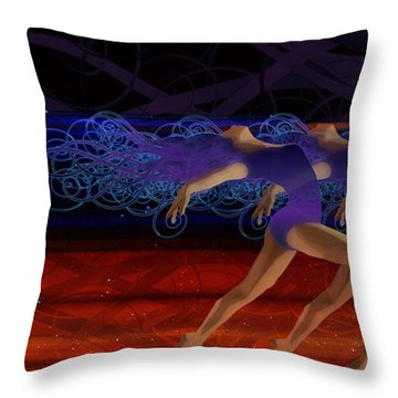 Throw Pillow featuring the digital art Dance Of The Moirai by Kenneth Armand Johnson