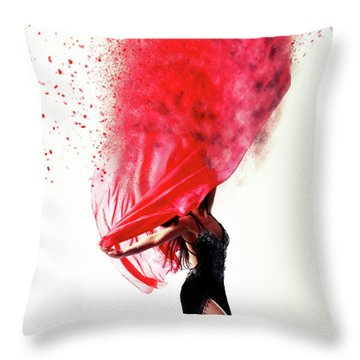 Dance Of The Viel Throw Pillow