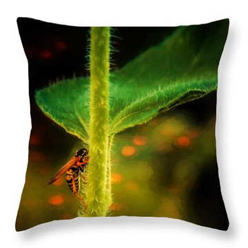 Dance Of The Wasp Throw Pillow