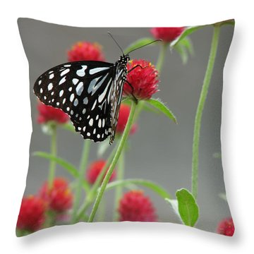 Dance Partners Throw Pillow by Misha Bean