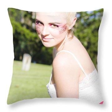 Dance Performer Throw Pillow