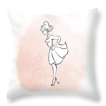 Throw Pillow featuring the digital art Dance Practice by Cindy Garber Iverson