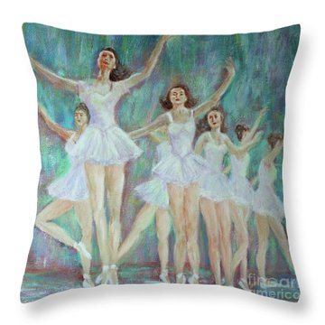 Dance Rehearsal Throw Pillow