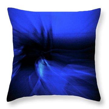 Dance Swirl In Blue Throw Pillow