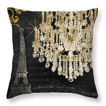 Throw Pillow featuring the mixed media Dance The Night Away 1 by Audrey Jeanne Roberts