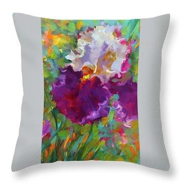 Dance The Night Away Iris Throw Pillow