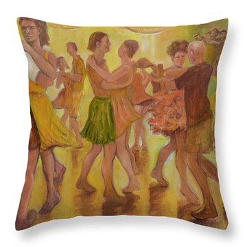 Dance Trance Throw Pillow