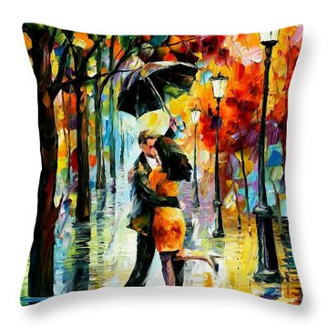 Dance Under The Rain Throw Pillow
