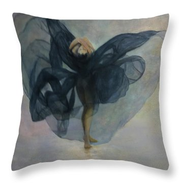 Dance With A Black Shawl Throw Pillow