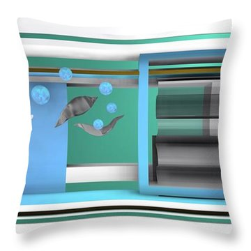 Dance With Balls Throw Pillow