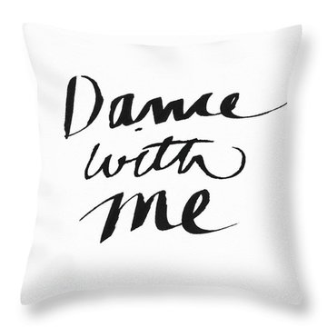 Dance With Me- Art By Linda Woods Throw Pillow