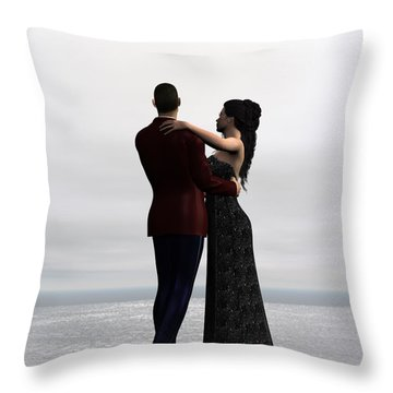 Throw Pillow featuring the digital art Dance With Me by Jayne Wilson