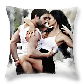 Dance With Passion Throw Pillow
