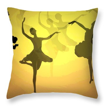 Dance With Us Into The Light Throw Pillow by Joyce Dickens