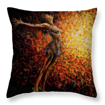Dancer 03 Throw Pillow