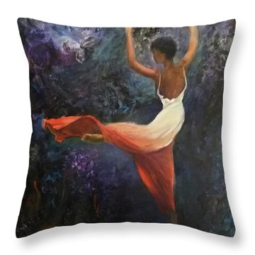 Dancer A Throw Pillow