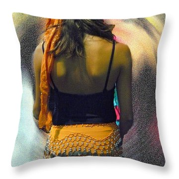Dancer Throw Pillow by Dee Flouton