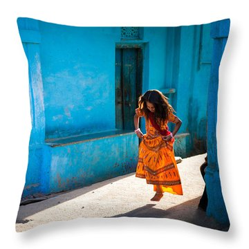 Dancer In The Light Throw Pillow