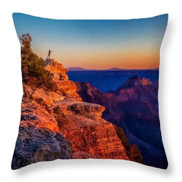 Dancer On The Ledge Throw Pillow