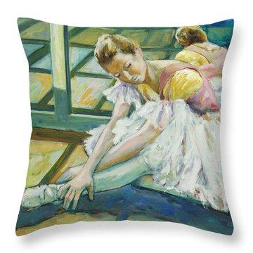 Dancer Throw Pillow by Rick Nederlof