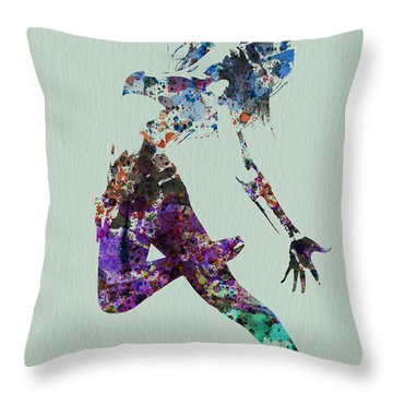 Dancer Watercolor Throw Pillow