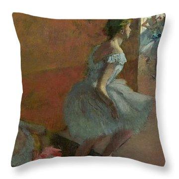 Dancers Ascending A Staircase Throw Pillow by Edgar Degas
