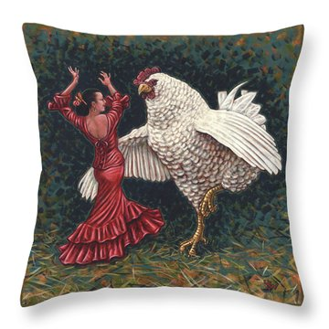 Dancers El Gallo Throw Pillow by Holly Wood